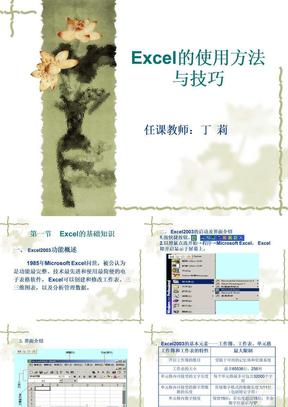 Excel的使用方法与技巧.ppt