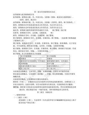 执业中药师之中药鉴定学复习资料(超全版).doc