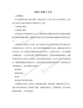 基础工程施工方案.doc