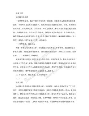幼儿园安全总结.doc