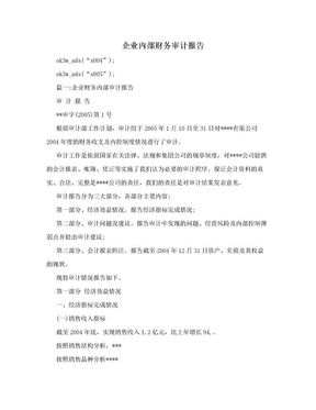 企业内部财务审计报告.doc