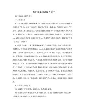 药厂顶岗实习报告范文.doc
