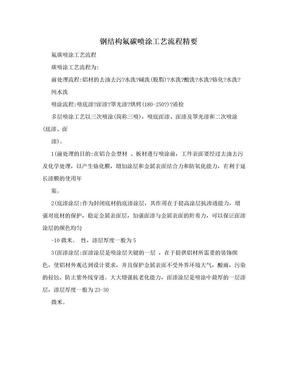 钢结构氟碳喷涂工艺流程精要.doc