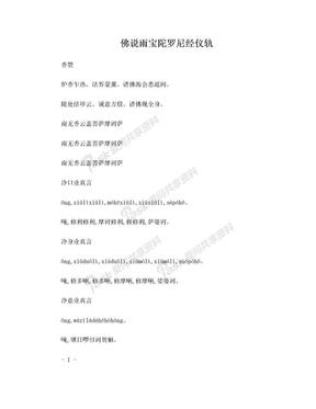 佛说雨宝陀罗尼经--注音,含仪轨.doc