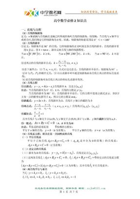 【数学】高一数学必修2知识点网络.doc