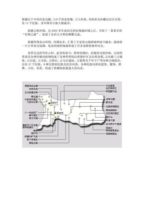 [新疆旅游攻略]新疆各地旅游景區景點分布圖