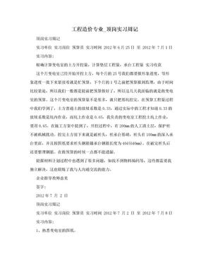 工程造价专业_顶岗实习周记.doc