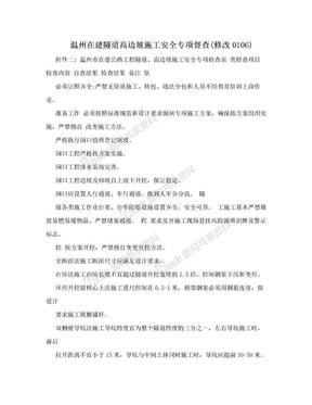 温州在建隧道高边坡施工安全专项督查(修改0106).doc