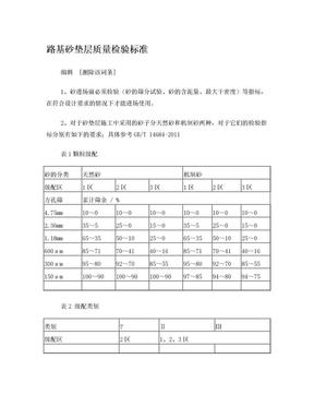 路基砂垫层质量检验标准.doc