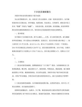 下乡扶贫调研报告.doc