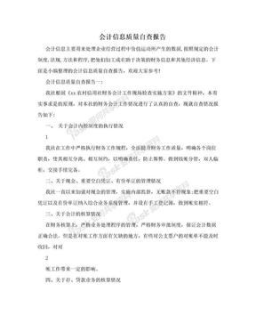 会计信息质量自查报告.doc