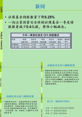 财政考研  陈共 第九章 税收的经济效应.ppt