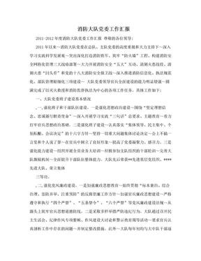 消防大队党委工作汇报.doc