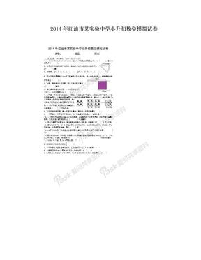 2014年江油市某实验中学小升初数学模拟试卷.doc
