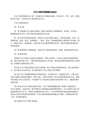 2016中层干部管理办法全文.docx