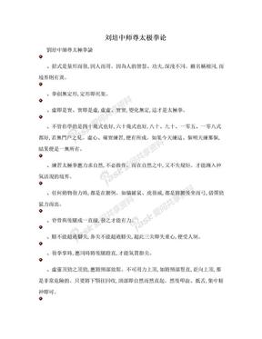 刘培中师尊太极拳论.doc