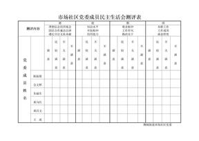市场社区党委成员民主测评表.doc