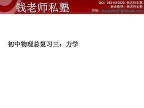 初中物理总复习3 力学.pdf
