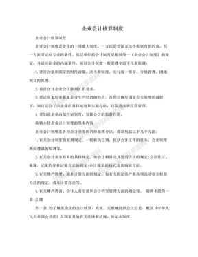 企业会计核算制度.doc