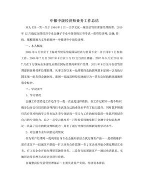 申报中级经济师业务工作总结.doc