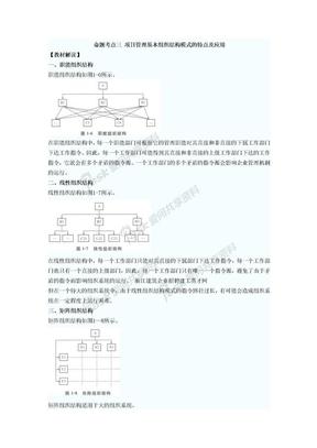 项目管理基本组织结构模式的特点及应用.doc