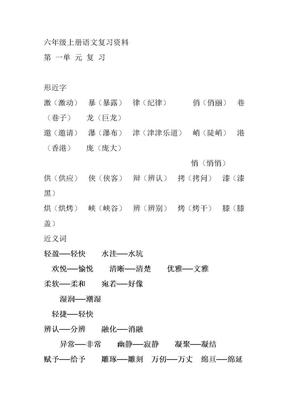 六年级上册复习资料(总).doc