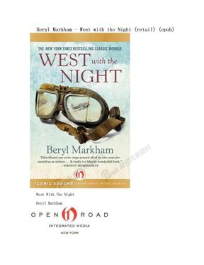 Beryl Markham - West with the Night (retail) (epub).doc
