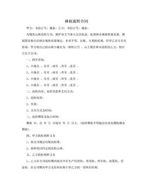 林权流转合同.doc