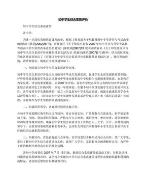初中学生综合素质评价.docx