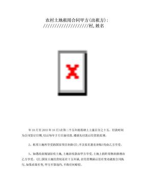 农村土地流转合同 (1).doc