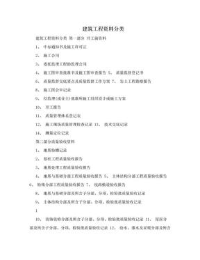 建筑工程资料分类.doc