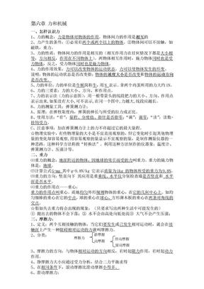 2011粤教沪科物理八年级下册复习提纲.doc