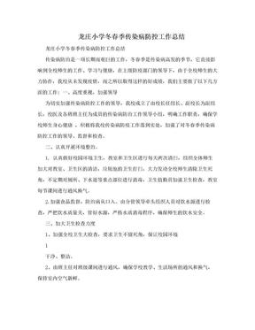 龙庄小学冬春季传染病防控工作总结.doc