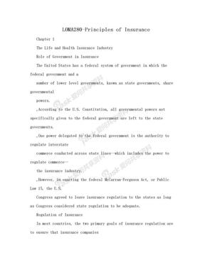 LOMA280-Principles of Insurance.doc