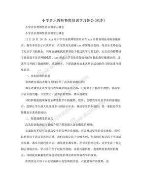 小学音乐教师竖笛培训学习体会(范本).doc