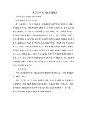 大学生职业生涯规划论文.doc