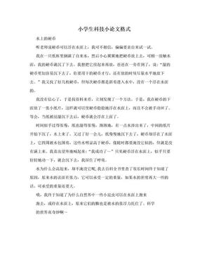 小学生科技小论文格式.doc