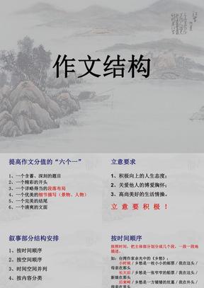 作文结构(初中记叙文).ppt