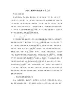 高级工程师专业技术工作总结.doc