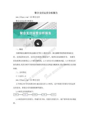 聚合支付运营分析报告.doc