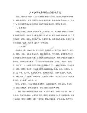 大树小学城乡环境综合治理方案.doc