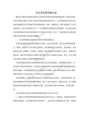 会计事务所营销计划.doc