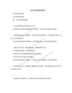 总会计师岗位职责.doc