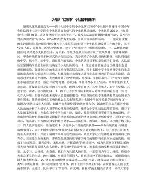 """少先队""""红领巾""""小社团申报材料.docx"""