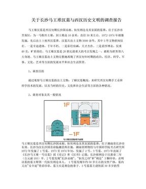 关于长沙马王堆汉墓与西汉历史文明的调查报告.doc
