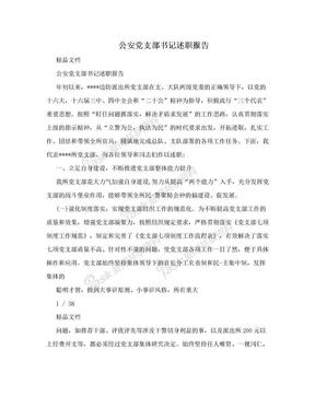 公安党支部书记述职报告.doc