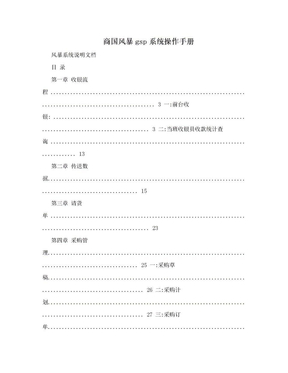商国风暴gsp系统操作手册.doc