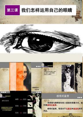 高一美术鉴赏 第三课 我们怎样运用自己的眼睛优秀课件.ppt