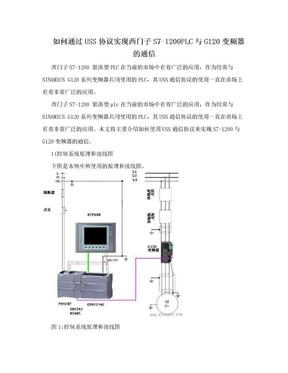 如何通过USS协议实现西门子S7-1200PLC与G120变频器的通信.doc