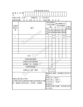消费税表格.doc